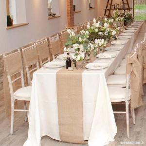 Camino mesa lino boda