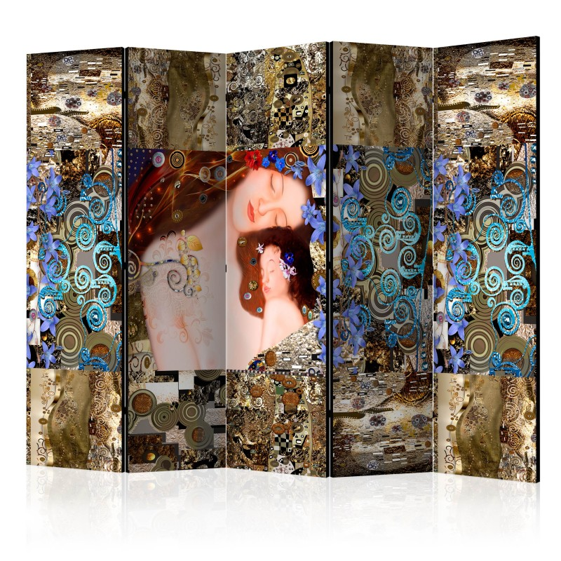 Mãe de tela dobrável decorativa Klimt