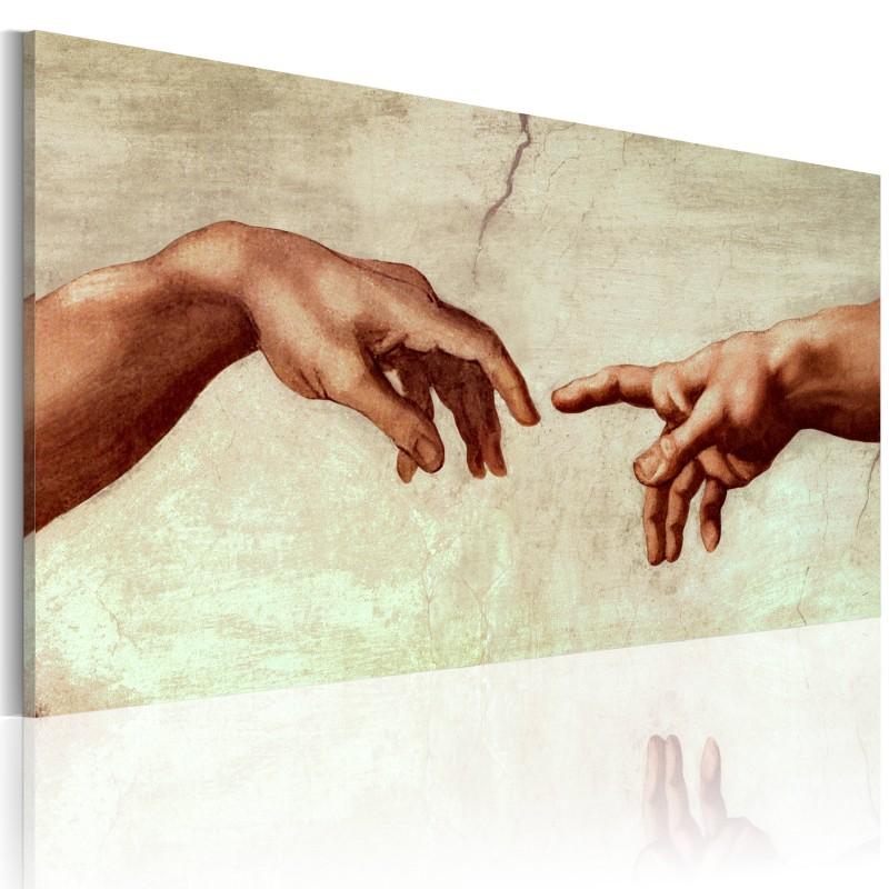Imagem pintada à mão A criação de Adam