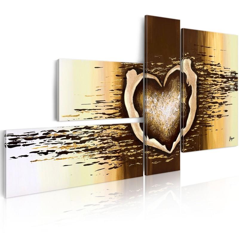Coração de imagens pintadas à mão