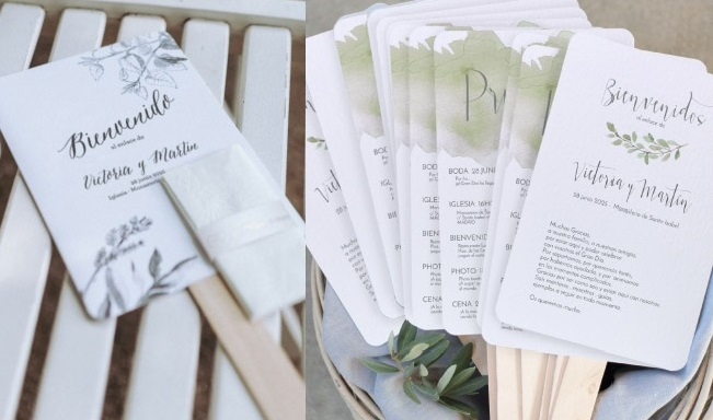 Programa de fã de papelaria de casamento