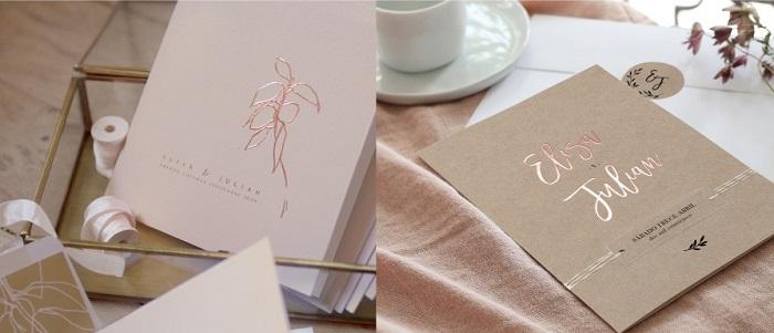 Convites do papel de carta do casamento