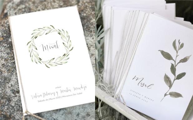 Artigos de papelaria do casamento do missal