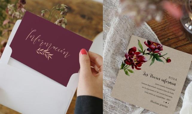 Conta bancária de cartão de papelaria de casamento