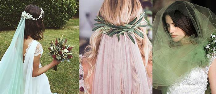 Tendencias en bodas… Letras gigantes y velos de colores para novias