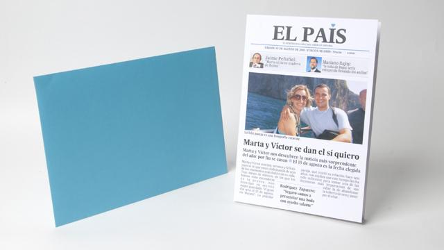 Convite diário de casamento El País