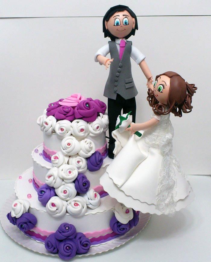 Fofuchos novios pastel boda