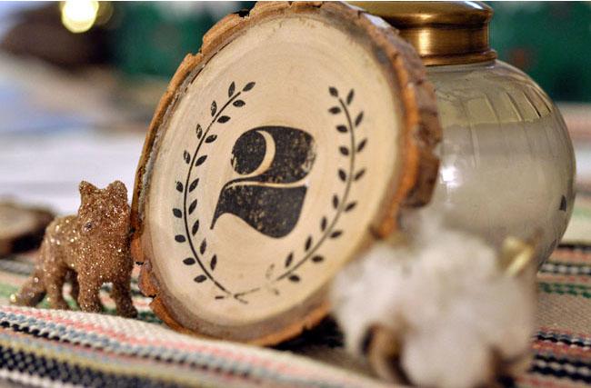 Número mesa boda de madera DIY
