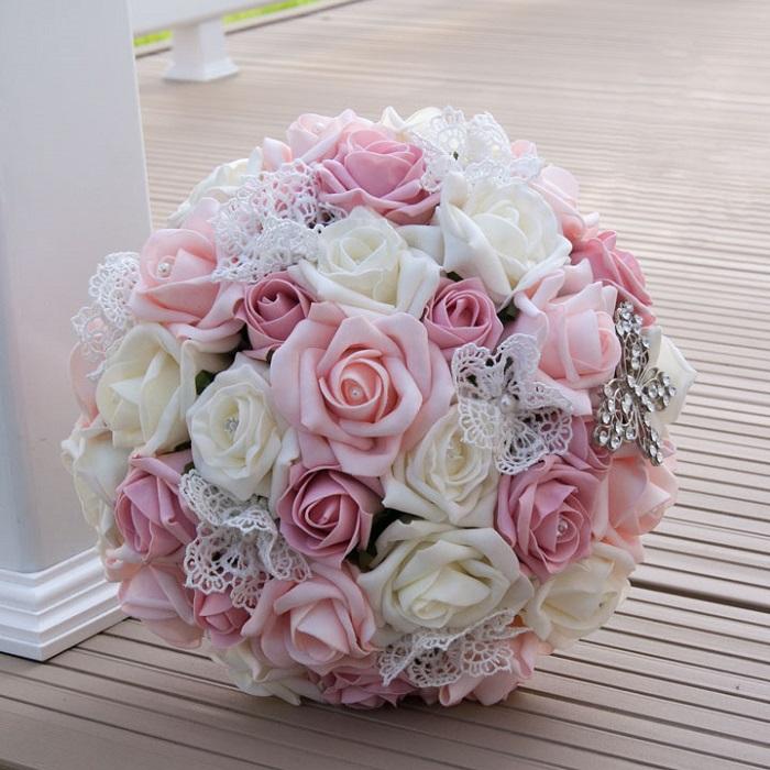 Ramo flores goma eva novia