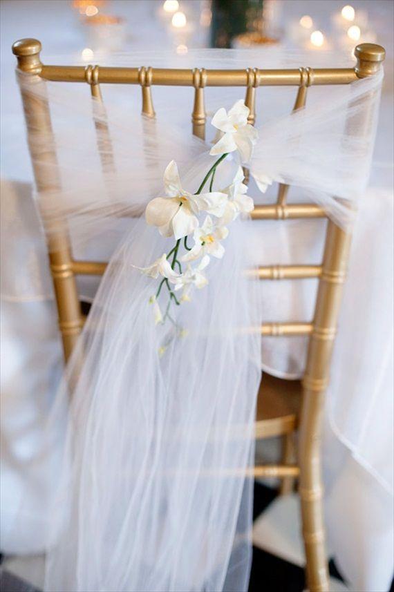 Tul decorar silla bodas