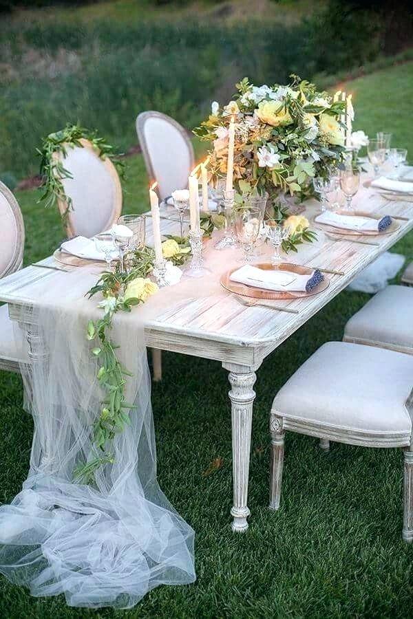Tul decorar mesa boda