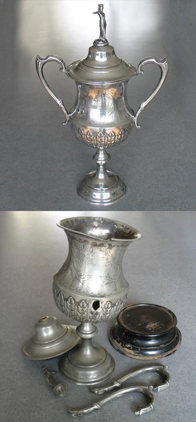 Arreglar jarrón plata antiguo