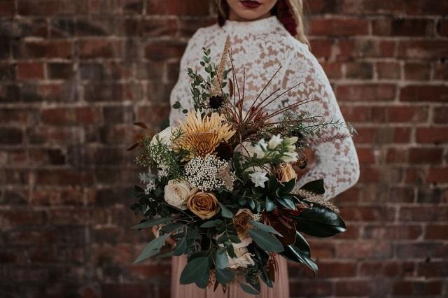 Ramos de flores para bodas en otoño: los colores más bonitos