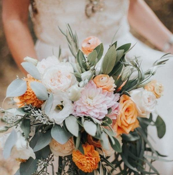 Ramo de flores bodas de otoño