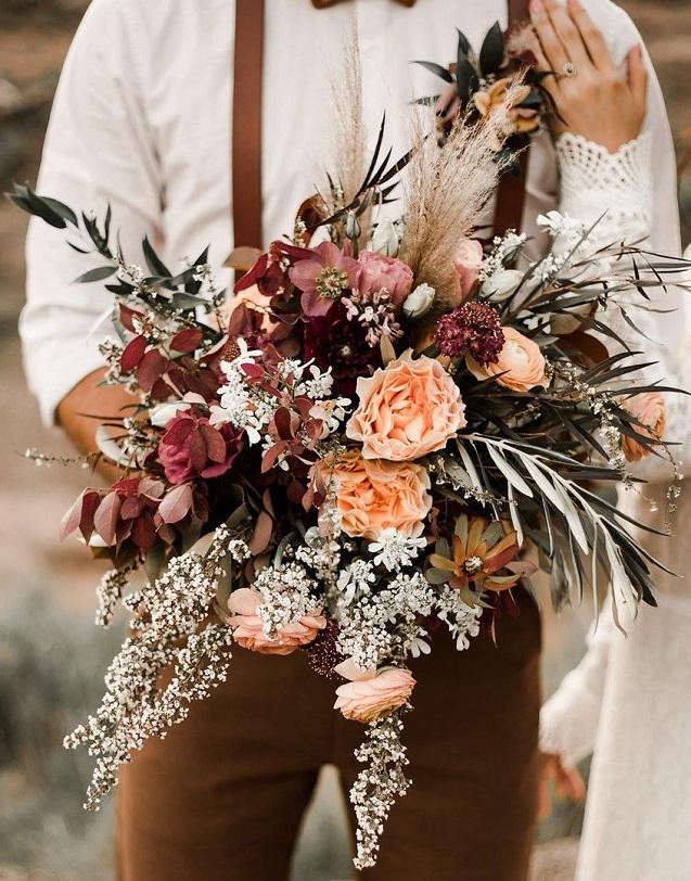 Ramo de flores bodas de otoño 2