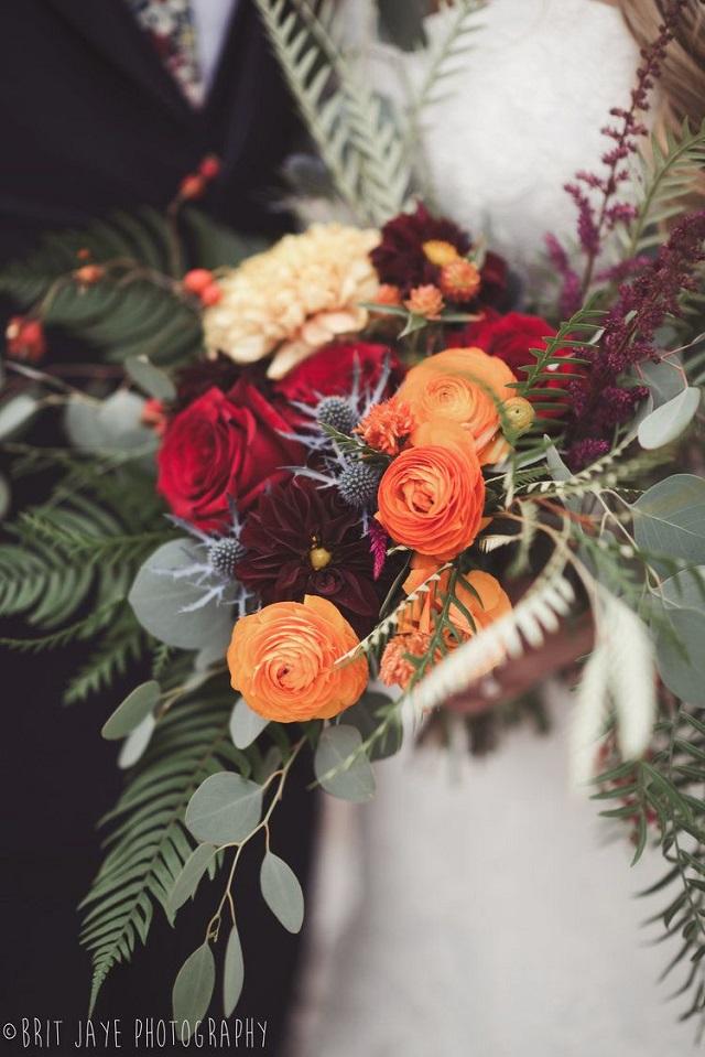 Ramo de flores bodas de otoño 3