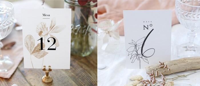 Accesorios decoración boda, soportes número de mesa