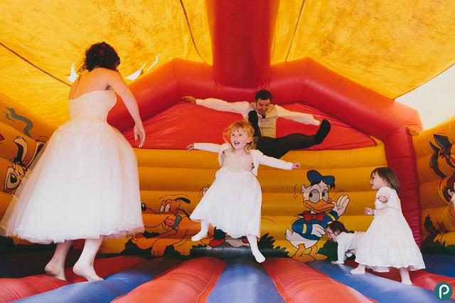 Animación infantil bodas castillo hinchable