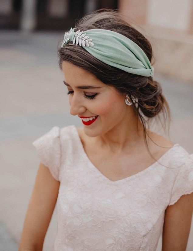 Diadema turbante boda