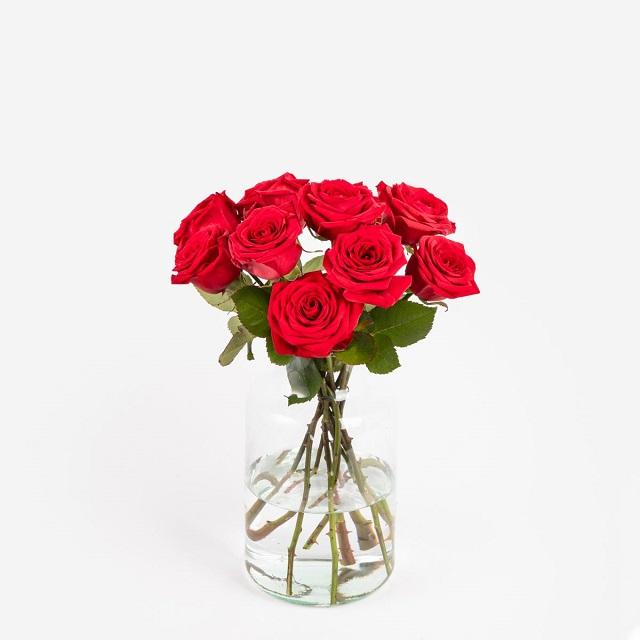 Ramo de flores San Valentín con rosas Red Naomi