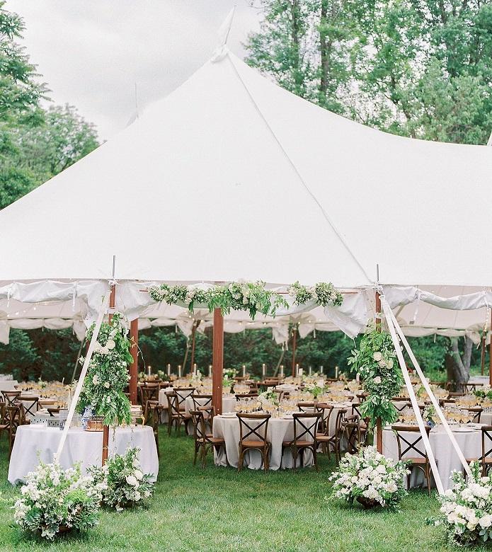 Banquete boda jardín