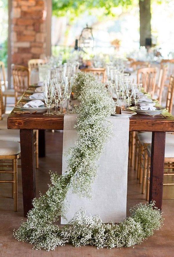Tendencia en flores para boda 2020, flores de la mesa al suelo