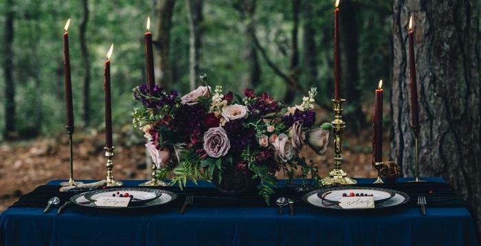 Tendencia en flores para boda 2020, flores oscuras bayas