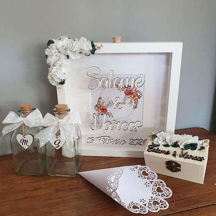 Ritual de las arenas personalizado para bodas