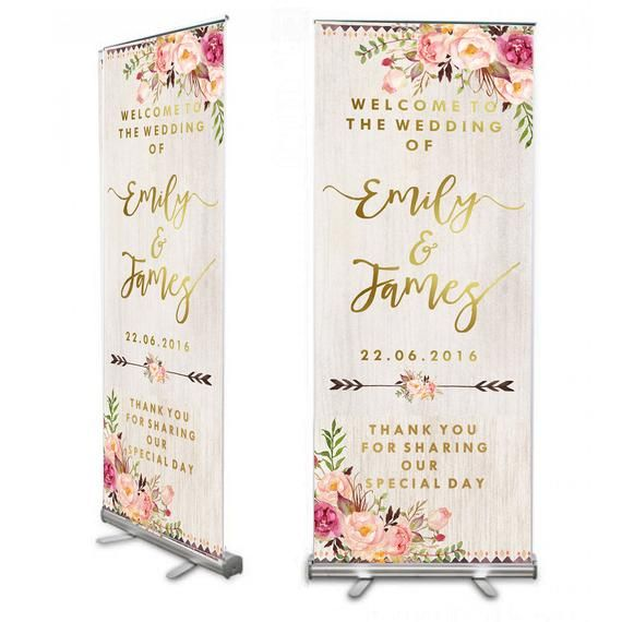 Roll up bienvenida boda