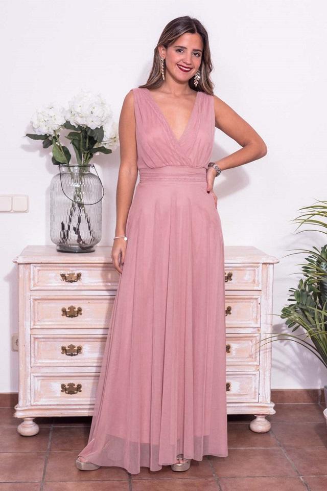 Vestido de invitada de boda rosa