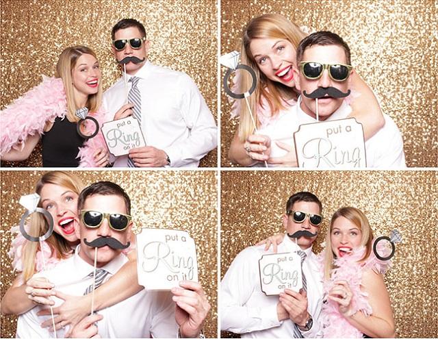 Disfraces en fotomatón para bodas