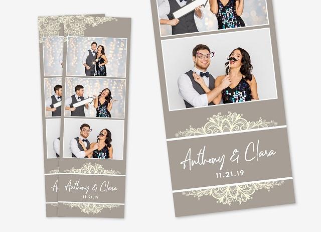 Tira de fotos de fotomatón para bodas