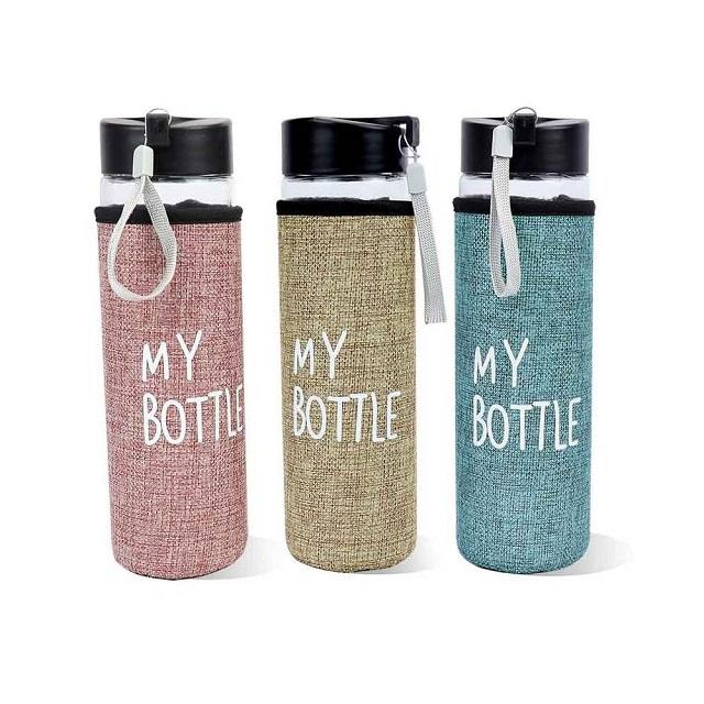 Detalles de boda, botella de agua
