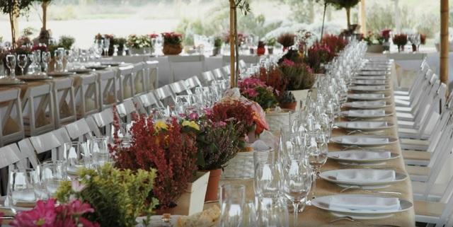 Mesa de boda en un cortijo extremeño