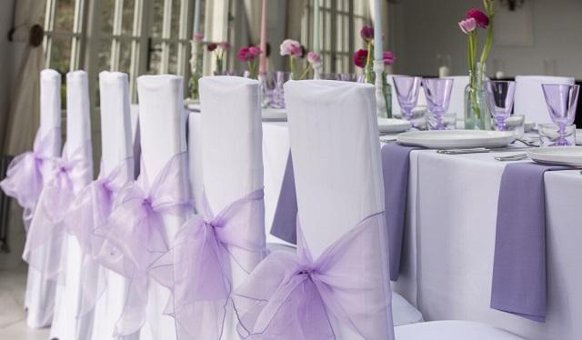 Cobertor para silla de boda