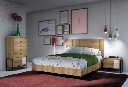 Conjunto dormitorio matrimonio industrial