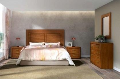 Conjunto dormitorio matrimonio clásico madera