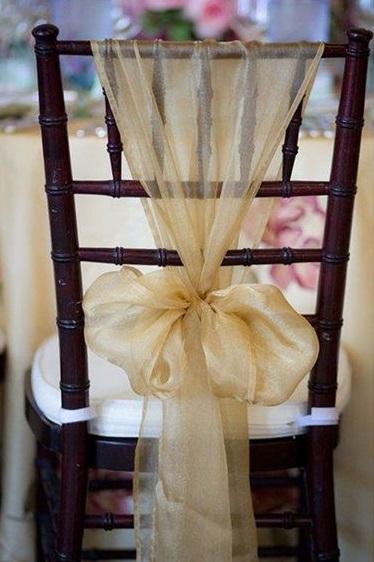 Lazo de organza para bodas