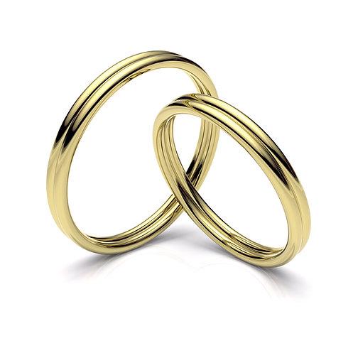 Alianza de boda galonada