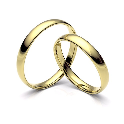 Alianza de boda ovalada