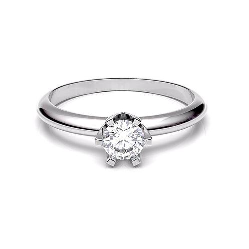 Anillo de compromiso diamante y oro blanco