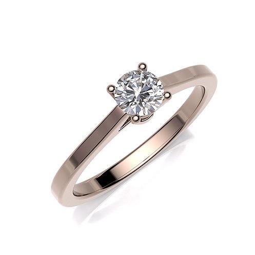 Anillo de compromiso oro rosa y diamante
